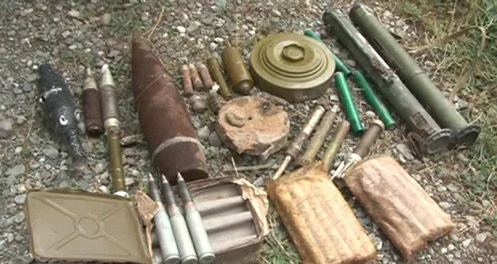 Боеприпасы, найденные после войны.