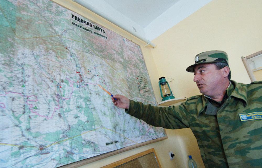 Подполковник Филипп Хачиров - командир батальона миротворческих сил от Республики Северная Осетия - Алания.
