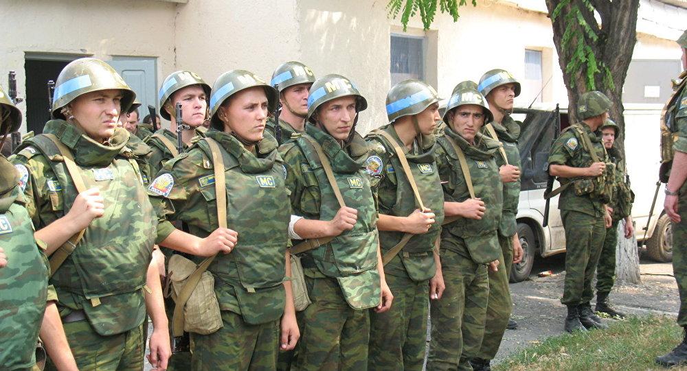Миротворцы в августе 2008 года в Цхинвале