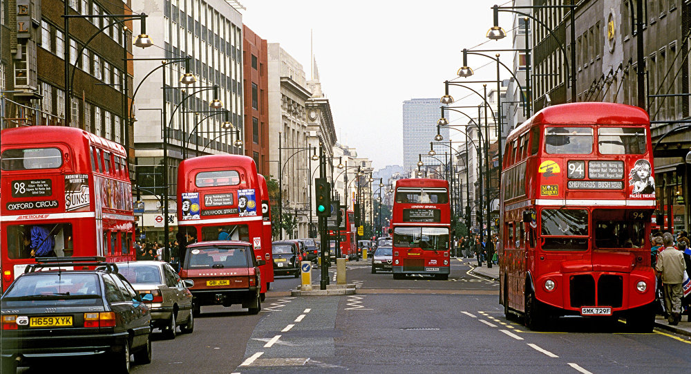 На Оксфордской улице в Лондоне