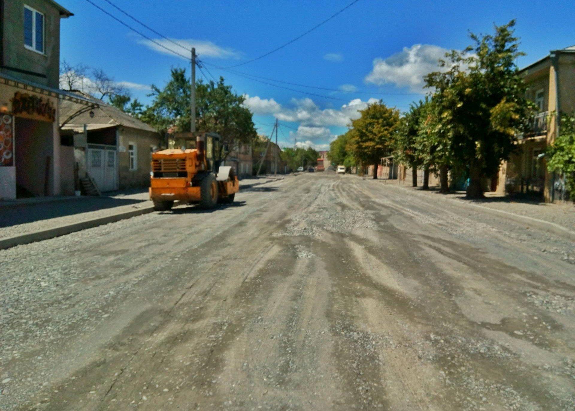 Цхинвал, улица Гаглоева, строительные работы
