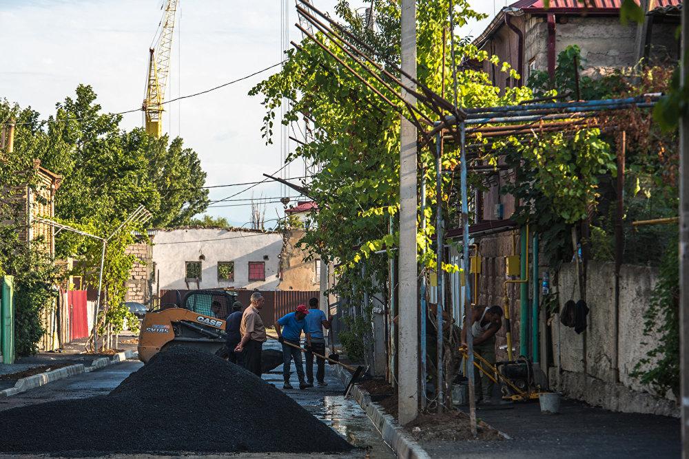 На улицах Владимира Гаглоева, Коблова, Горького и Интернациональная идет интенсивная работа.
