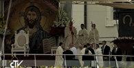 Папа римский Франциск упал во время богослужения в Польше