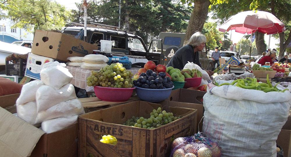 Колхозный базар в Цхинвале