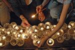 Траурный митинг у храма Христа Спасителя