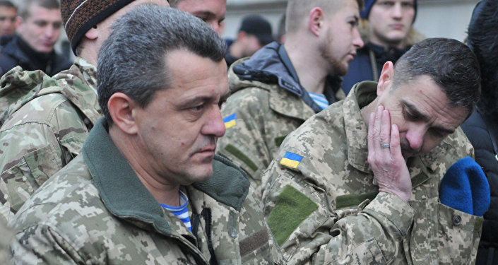 Украинские военные, принимавшие участие в боевых действиях на Донбассе