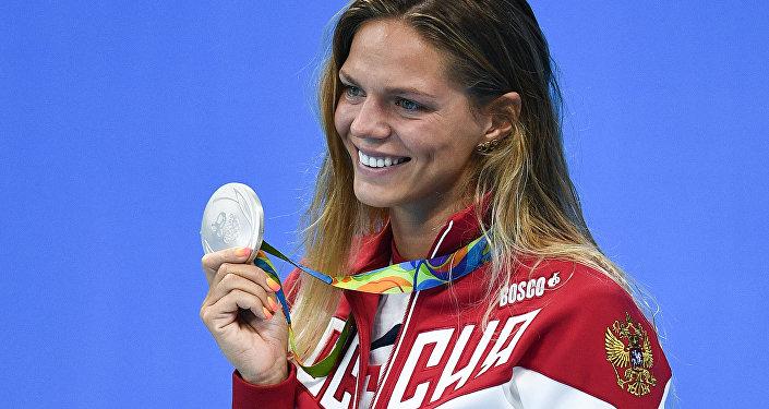 Юлия Ефимова (Россия), завоевавшая серебряную медаль