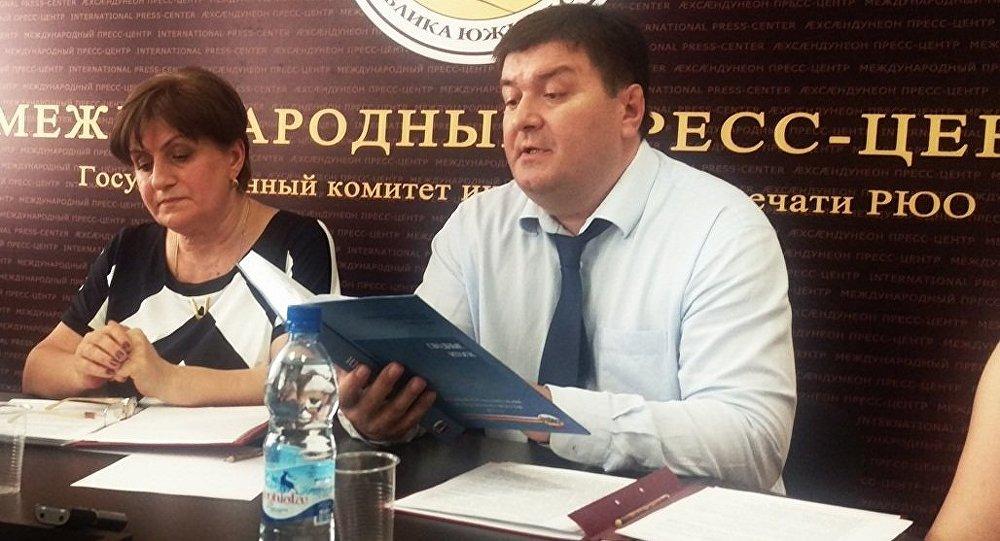 Глава Статуправления Южной Осетии Инал Тибилов
