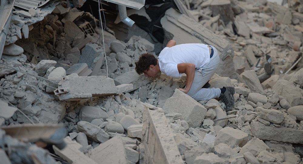 Мощное землетрясение случилось вИталии