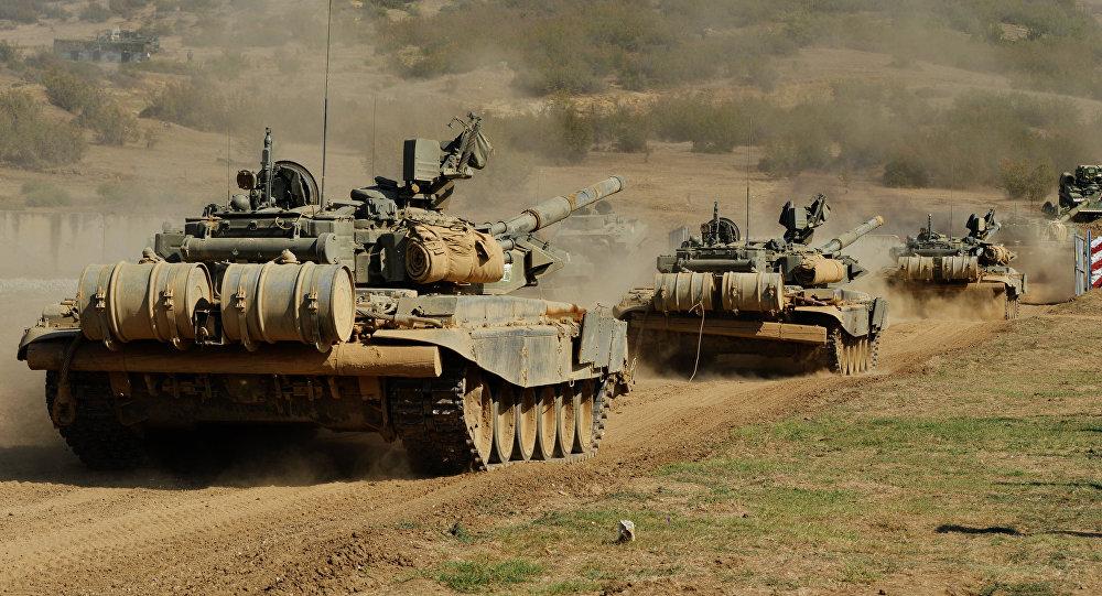 Тактические занятия мотострелковой бригады ЮВО