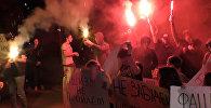 Фашизм не пройдет – акция протеста возле украинского посольства в Москве