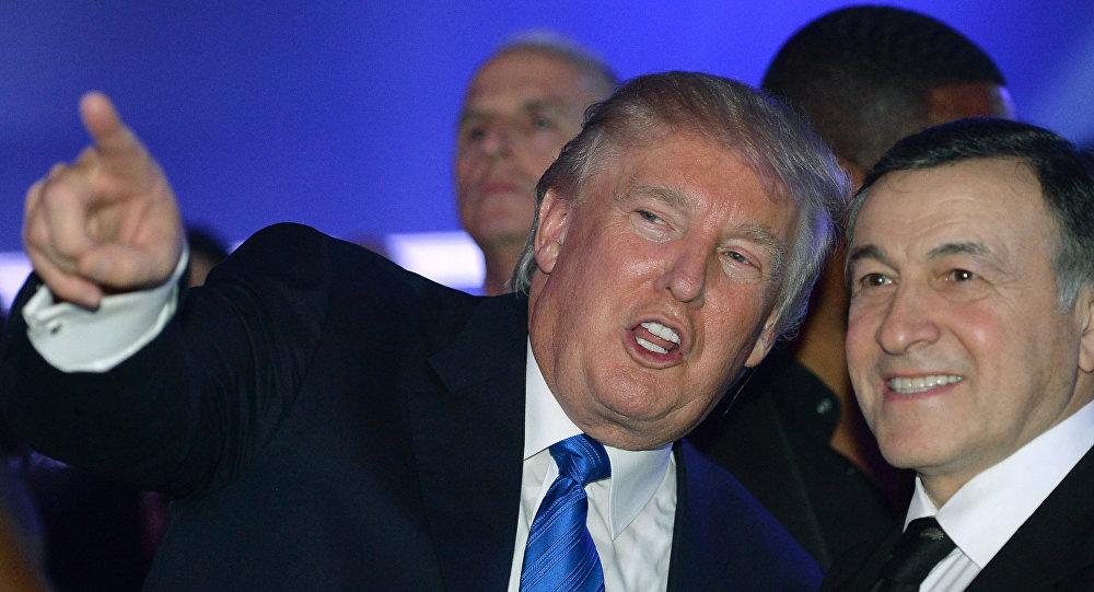 Американский миллиардер, телеведущий Дональд Трамп и президент Crocus Group Арас Агаларов