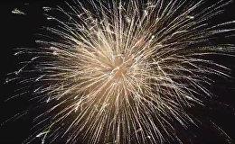 Салют в Цхинвале на день независимости в 4К