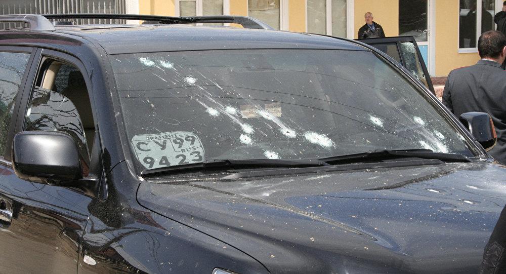 На месте обстрела автомобиля