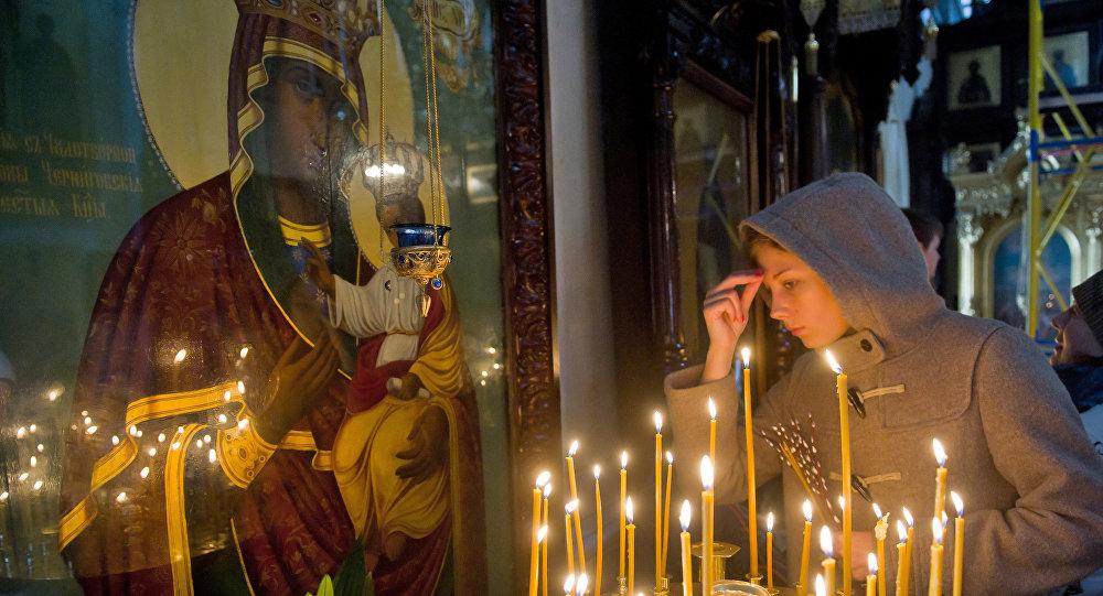 Празднование Вербного воскресенья в Московской области