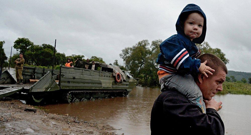 Последствия наводнения в Приморском крае