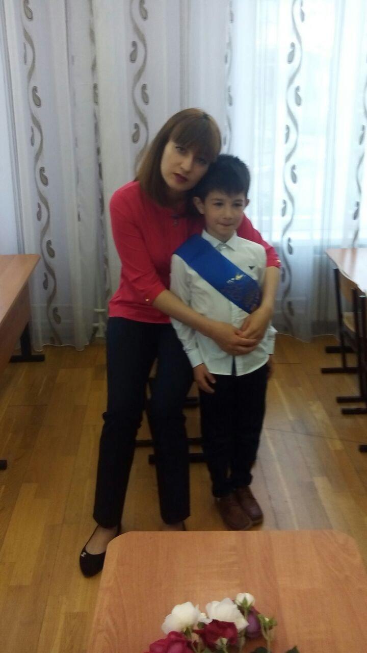 Натия Тедеева с сыном Давидом