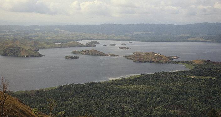 Пейзаж острова Новая Гвинея