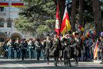 Военный парад в Цхинвале