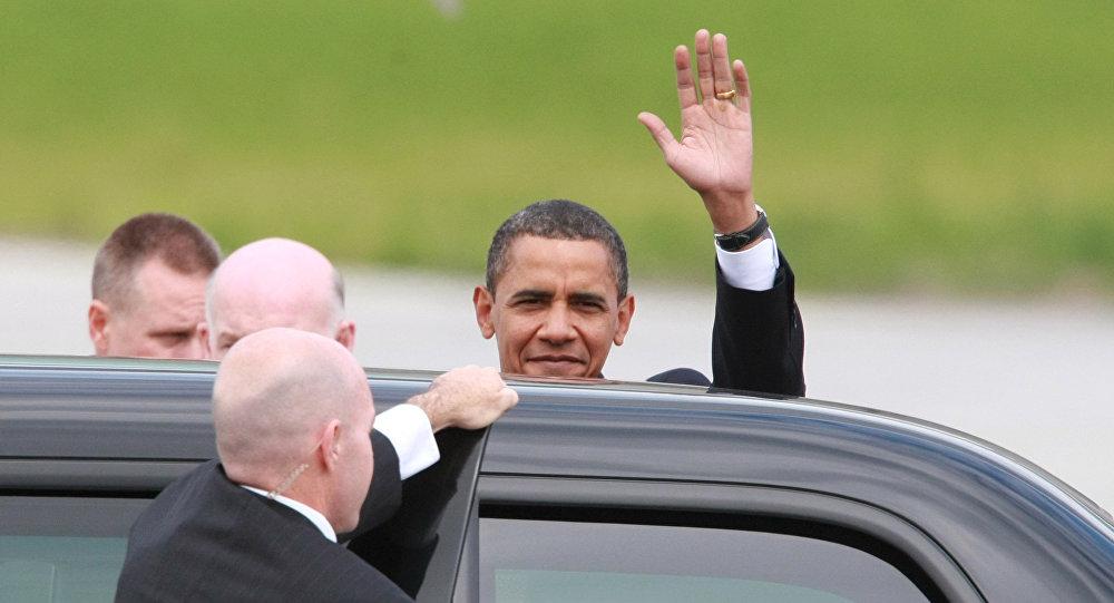 Президент США Барак Обама во время визита в Россию