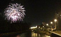 Завершающий этап Дня республики и города - праздничный салют