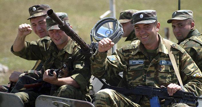 Российские миротворцы в Цхинвали