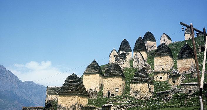 Склепные сооружения в селе Даргавс