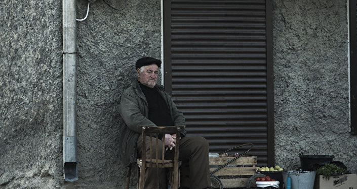 Пенсионер в Цхинвале
