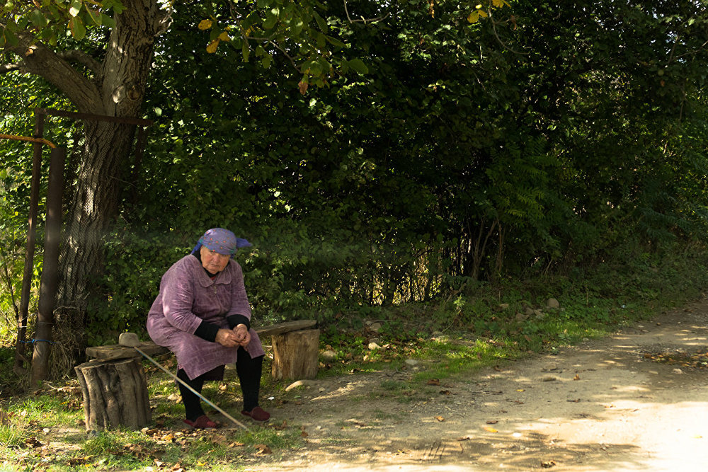 Большая часть населения сел в Южной Осетии состоит из пожилых людей
