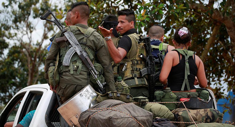 Повстанцы из Революционных вооруженных сил Колумбии