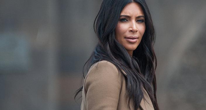 Американская модель Ким Кардашьян