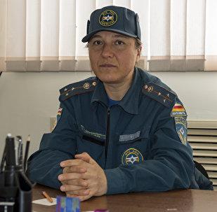 Женщина-пожарный из Южной Осетии Регина Чочиева