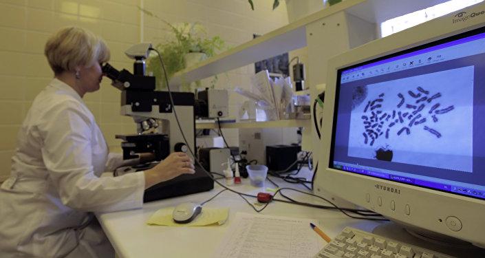 Исследование хромосом в лаборатории генетики