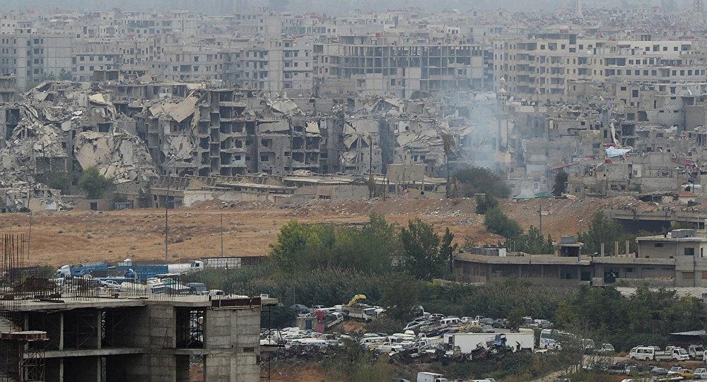 Пригорода Дамаска Джобар, который контролируют боевики Джебхат ан-Нусры