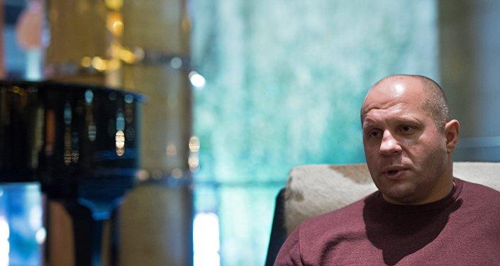 Многократный чемпион мира по боям без правил и боевому самбо Федор Емельяненко.
