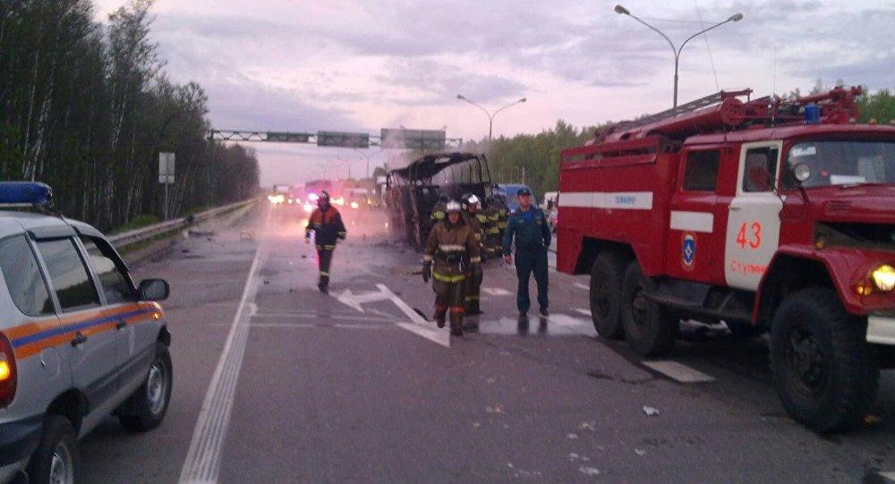 Под Тулой 12 человек пострадали врезультате происшествия надороге савтобусом