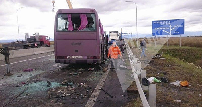 Рейсон бӕлццон автобус Мӕскуы – Ереваны авари