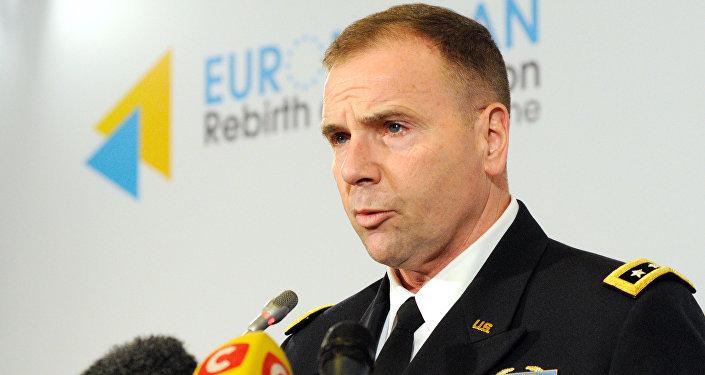 Пресс-конференция генерал-лейтенанта Бена Ходжеса в Киеве