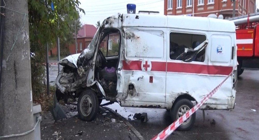 ВоВладикавказе в итоге ДТП умер шофёр скорой помощи