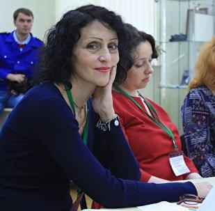 Влада Харебова на вручении литераутрной премии
