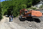 Строящая дорога в знаурском районе