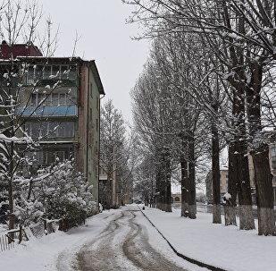 Снегопад в Цхинвале