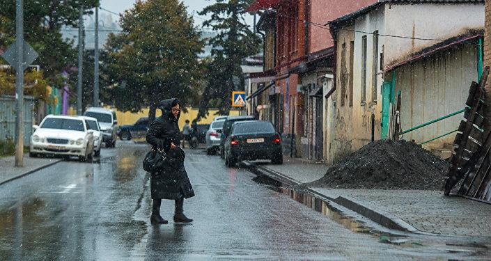 Улица Васо Абаева в Цхинвале