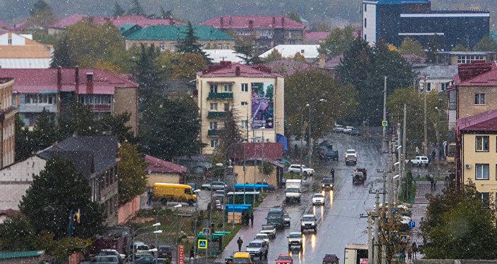 Первый снег в Цхинвале