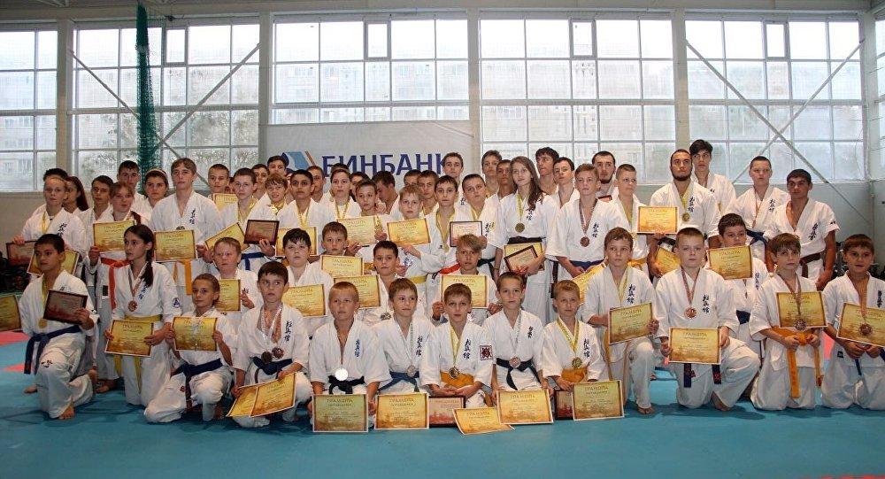 Участники первенства Ставропольского края по карате
