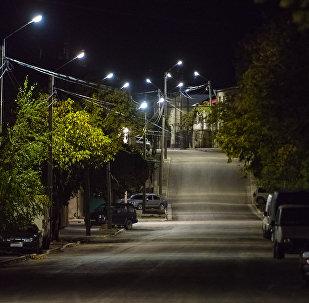 Освещение в городе Цхинвал