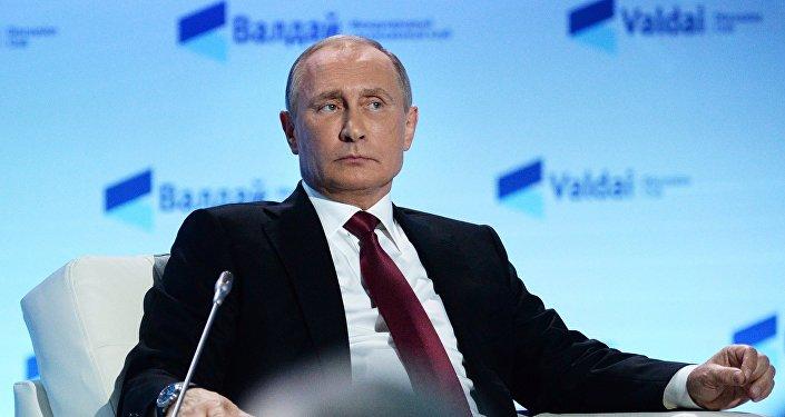 Президент РФ Владимир Путин на заседании Международного дискуссионного клуба Валдай