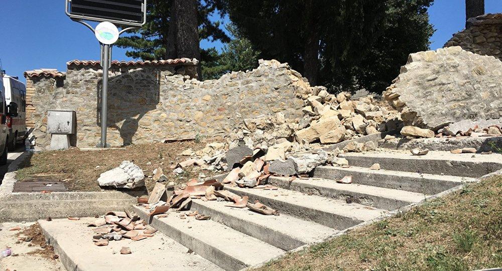Вцентральной части Италии случилось очень сильное землетрясение