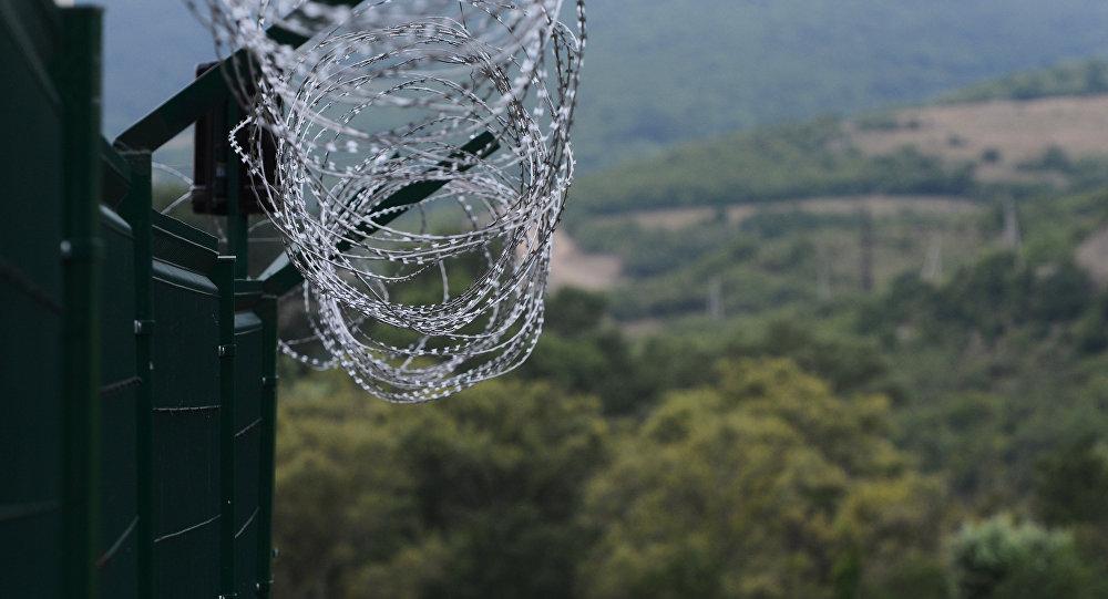 Пограничный пост границы  Республики Южная Осетия