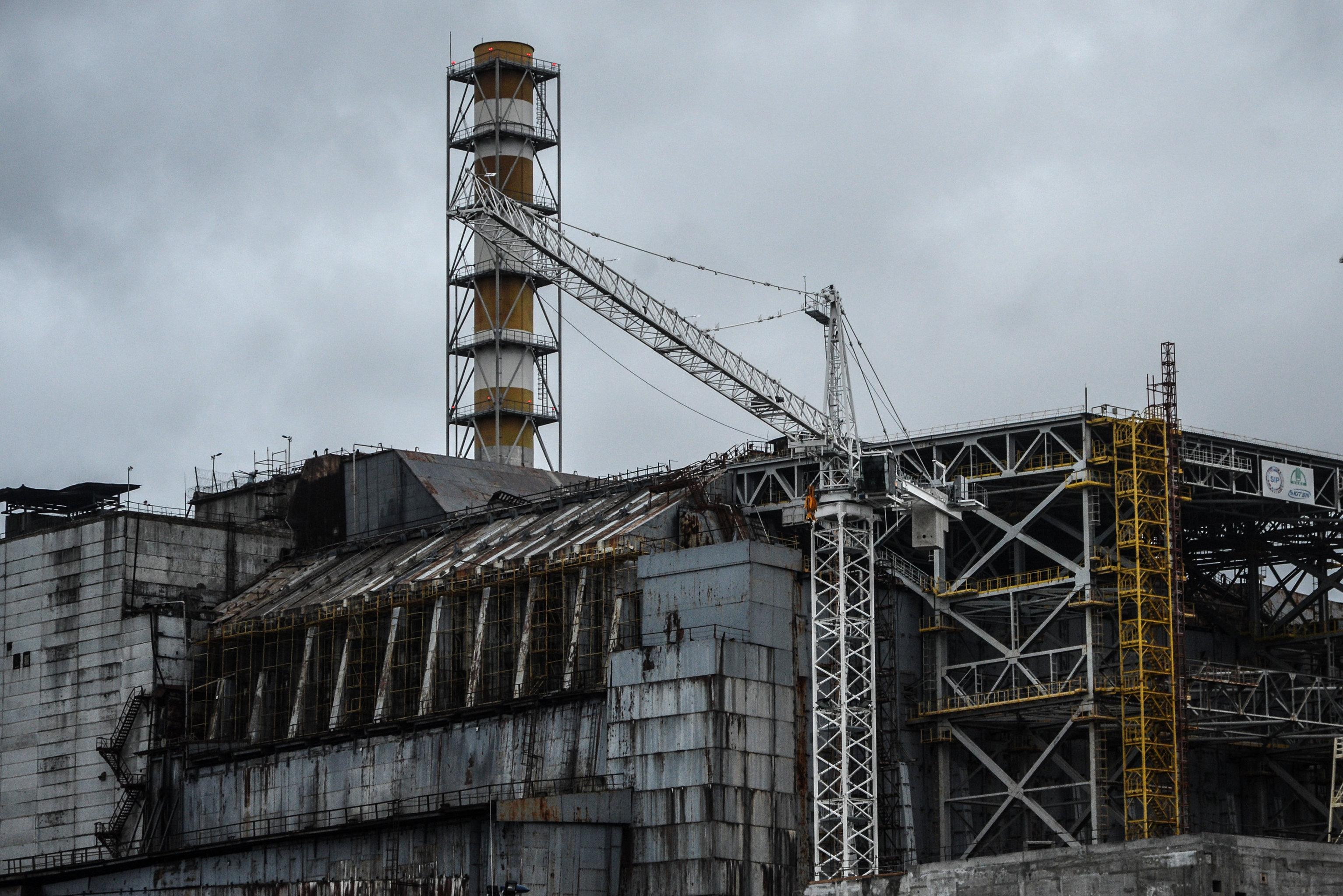Саркофаг над четвертым энергоблоком Чернобыльской АЭС